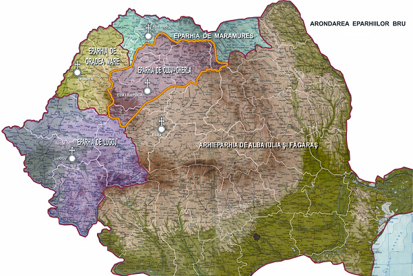 Harta Eparhiilor