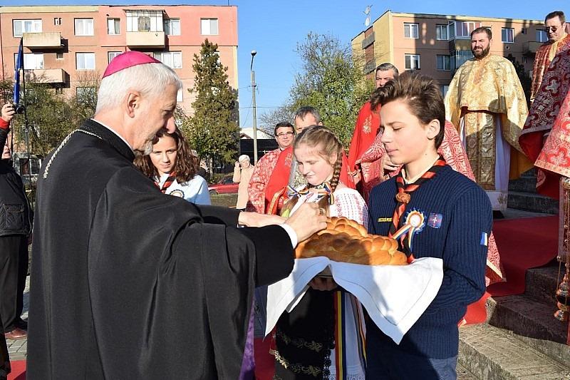 Omagierea Cardinalului Hossu la Gherla, primul său sediu episcopal